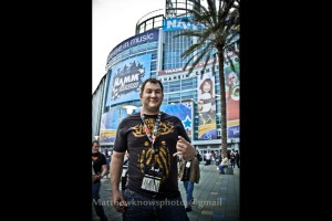 Photographer Matthew Zinke day one at NAMM